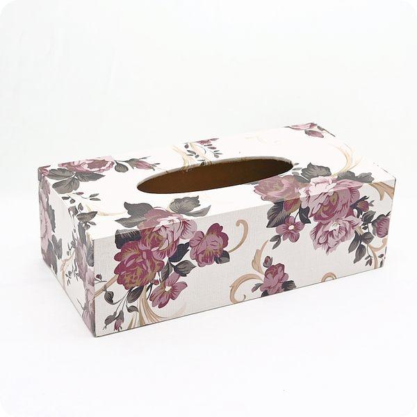 【雅典娜家飾】白色仿皮革富貴花底掀式面紙盒/餐巾盒/衛生紙盒/GF44