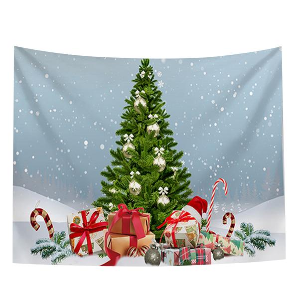 聖誕布置/交換禮物/送1.5米星星燈//聖誕節布置裝飾掛布-聖誕樹系列(沙灘巾 背景布 )【半島良品】