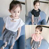 嬰兒童裝夏裝新款女童女寶寶短袖T恤兒童半袖打底衫1-2-3歲4 全館免運