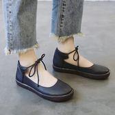 單鞋女新款百搭日繫小皮鞋百搭韓版平底學生大頭軟妹娃娃鞋潮 時尚芭莎