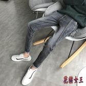 27-36中大尺碼牛仔褲男韓版潮流修身長褲男士春夏款港風小腳褲子 BT3532【花貓女王】