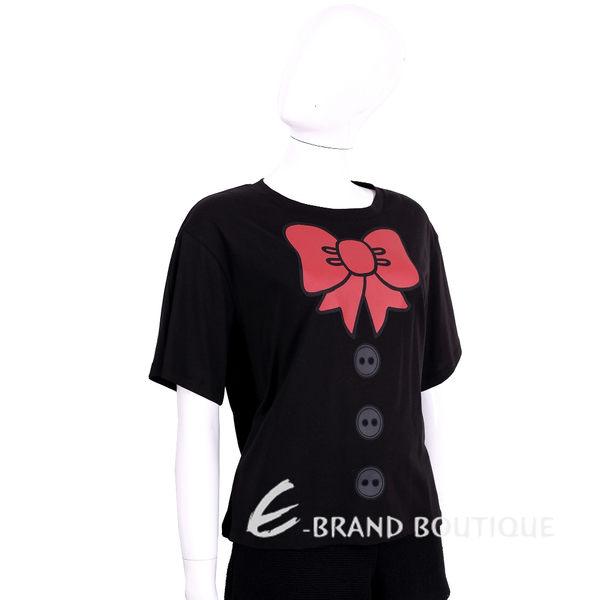 LOVE MOSCHINO 黑色蝴蝶結圖騰設計短袖上衣 1620409-01