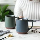日式工業風啞光粗陶馬克杯家用水杯辦公室咖啡杯杯子 港仔會社