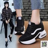 帆布鞋 冬季新款內增高黑色鞋子加絨棉鞋女鞋韓版百搭運動鞋女冬天潮 玫瑰女孩