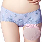 思薇爾-芭紗花園系列M-XL蕾絲刺繡低腰平口內褲(亮膚粉)