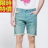 牛仔短褲-做舊貓鬚彈力舒適丹寧男五分褲69h86[巴黎精品]