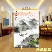 中式屏風隔斷時尚現代客廳行動簡約摺疊臥室家用玄關折屏小戶型【快速出貨】