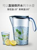 涼水壺耐高溫塑料冰箱冷水杯天水壺家用大容量耐熱『米菲良品』