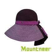 【Mountneer】中性透氣抗UV草編帽『暗紫』11H06 台灣製造│抗UV帽│登山帽│路跑慢跑帽│防曬帽