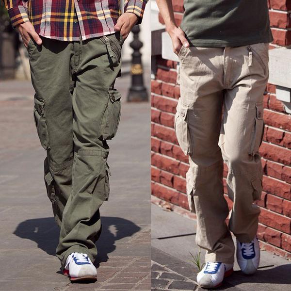 【K02】熱銷爆款多口袋戶外耐磨工作褲 休閒工裝褲 加大尺碼(2色可選/29-38)