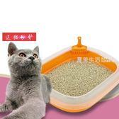 貓砂盆 寵物貓砂盆小號幼貓迷你型貓沙盆除臭貓咪用品防外濺貓廁所半封閉·夏茉生活IGO