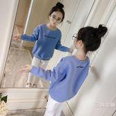 童裝女童衛衣秋裝2018新款韓版秋季兒童打底衫中大童洋氣上衣秋冬