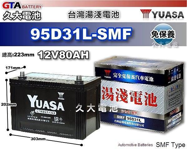 ✚久大電池❚ YUASA 湯淺 95D31L 免保養 汽車電瓶 大福特休旅車4.5以上(美規) K2500/2700