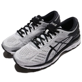 【六折特賣】Asics 慢跑鞋 Gel-Kayano 24 2E Wide 寬楦 灰 黑 輕量穩定 運動鞋 男鞋【PUMP306】 T7A0N9390
