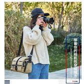國家地理 相機包數碼專業攝影包單反單肩復古帆布多功能防水便攜『潮流世家』