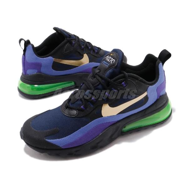 【海外限定】Nike 休閒鞋 Air Max 270 React 藍 黑 男鞋 氣墊 運動鞋 【ACS】 AO4971-005