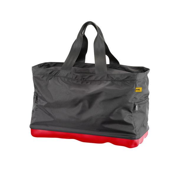 Crash Baggage Bump Bags 前衛霧面 龐克系列 防潑水 旅行提袋 / 運動側背包(黑色提袋 - 火焰紅硬殼)