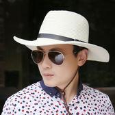 太陽帽 防曬夏天男士可折疊牛仔帽戶外遮陽帽太陽帽沙灘帽子大檐韓版草帽
