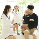 韓版歐式優雅學院長袖上衣親子裝(女童)