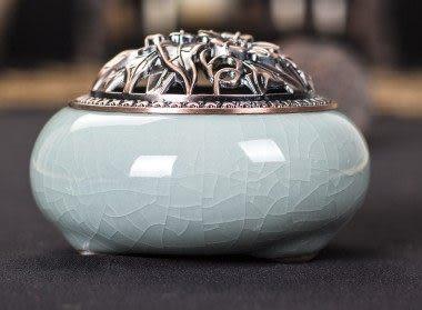 龍泉青瓷陶瓷仿古純銅沉香爐09