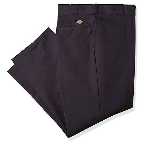 Dickies男經典抗皺防污斜紋布褲(黑色)