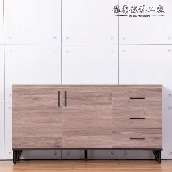 D&T 德泰傢俱 BROOK淺胡桃木5尺餐櫃-B001-431