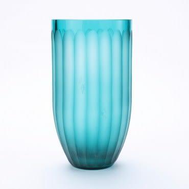 奈可玻璃花器 24CM 藍