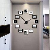 時尚客廳現代簡約北歐照片牆創意個性靜音石英鐘PLL4567【男人與流行】