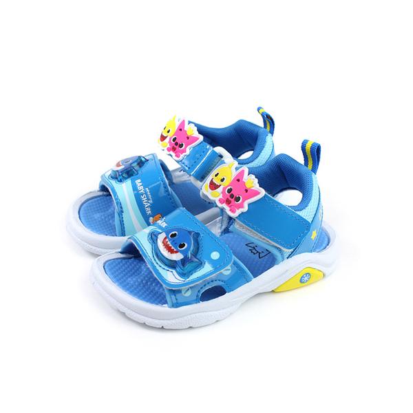 碰碰狐 鯊魚寶寶 BABY SHARK 涼鞋 電燈鞋 藍色 中童 童鞋 PIKT06516 no707 17~19cm