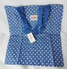 *禎的家* 英國名牌 Cath Kidston~ 棉布購物袋 * 藍底白點點
