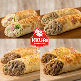 【KKLife】香濃起司肉捲 (和風牛/美式雞/泡菜牛/黑胡椒豬;180g/包)10條組