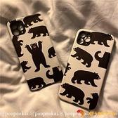 韓版手機保護套可愛個性小黑熊適用12/11/promax蘋果xr/x手機殼8plus/iphone7【小獅子】