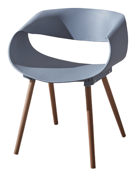 【 IS空間美學】亞琪灰色餐椅