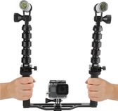 水下攝影燈 gopro潛水補光燈潛水手電筒 水下專用防水100M