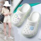 洞洞鞋女學生簡約舒適可愛時尚韓版涼鞋家用防滑軟底拖鞋女夏外穿