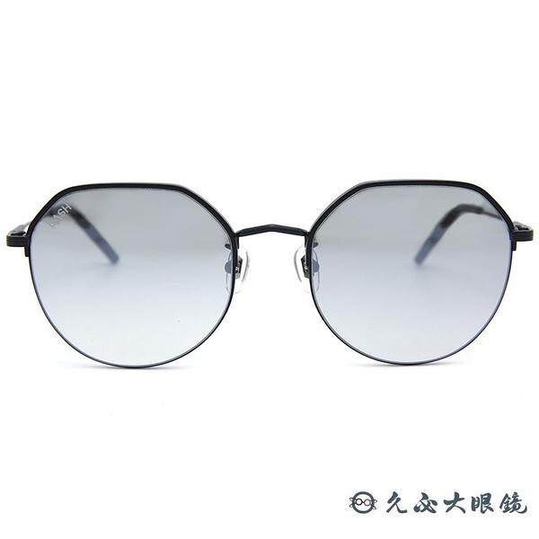 LASH 墨鏡 CURE BK01 (霧黑) 圓框 韓國 淺水銀 太陽眼鏡 久必大眼鏡