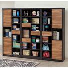 【森可家居】雙色積層8尺書櫥組 8SB241-1 書櫃組 北歐工業風