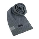 【南紡購物中心】MICHAEL KORS縮寫LOGO針織圍巾-灰