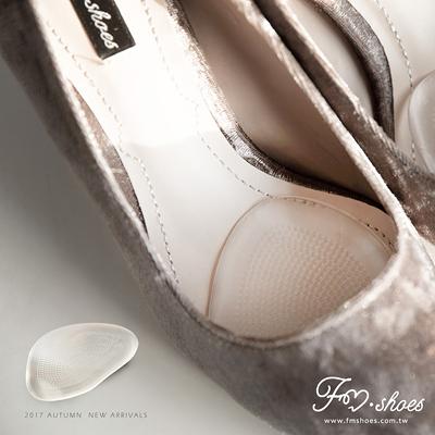 鞋墊.止滑透明舒壓果凍半墊-一雙-FM時尚美鞋.White