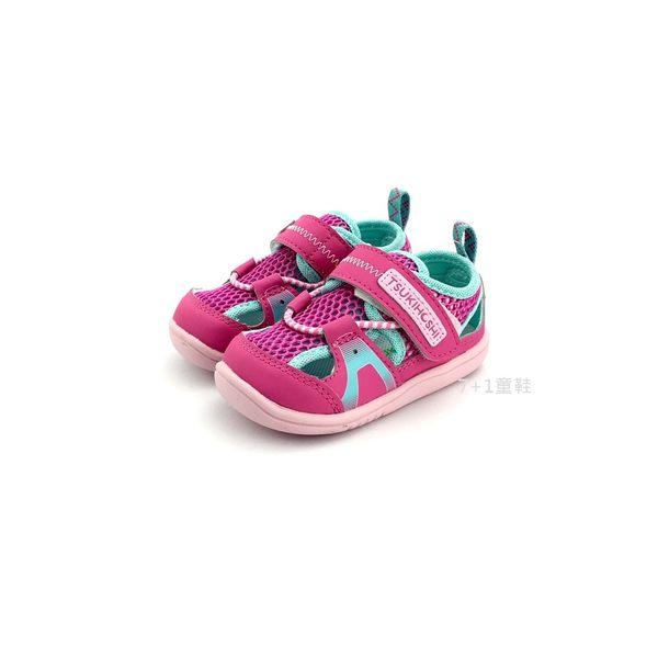 小童 日本 MOONSTAR 月星 CARROT 透氣 魔鬼氈 運動機能鞋 涼鞋《7+1童鞋》C408 桃色