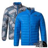 【THE NORTH FACE 美國】男 羽絨外套(充填物:鵝絨FP700)『土耳其藍』NF0A3KTF 保暖外套 雙面外套