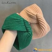 【買一送一】韓國手工柔軟針織棉交叉發帶日常運動風松緊頭帶發箍【勇敢者】