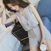 2019夏裝新款韓版休閒套裝無袖女顯瘦時尚氣質兩件套zt1548 『紅袖伊人』