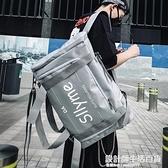 背包男個性雙肩包休閒超大容量多功能男士學生書包時尚潮流旅行包 設計師生活百貨