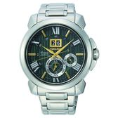 SEIKO Premier 35周年限定人動電能自動追時萬年曆腕錶  7D56-0AF0G(SNP155J1)綠色