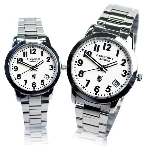 【Arseprince】經典指針個性時尚對錶-白色