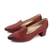 HUMAN PEACE 休閒鞋 跟鞋 尖頭 皮質 紅色 女鞋 050666SB no293