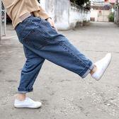 童裝男童哈倫褲牛仔褲韓版潮兒童休閒長褲寬鬆直筒褲子  伊衫風尚