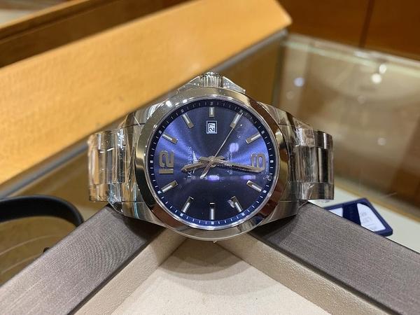 LONGINES浪琴 Conquest 征服者系列L37784966機械錶-300米藍/43mm