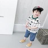 男童印花體恤夏裝韓版兒童卡通人頭短袖T恤寶寶圓領半袖潮